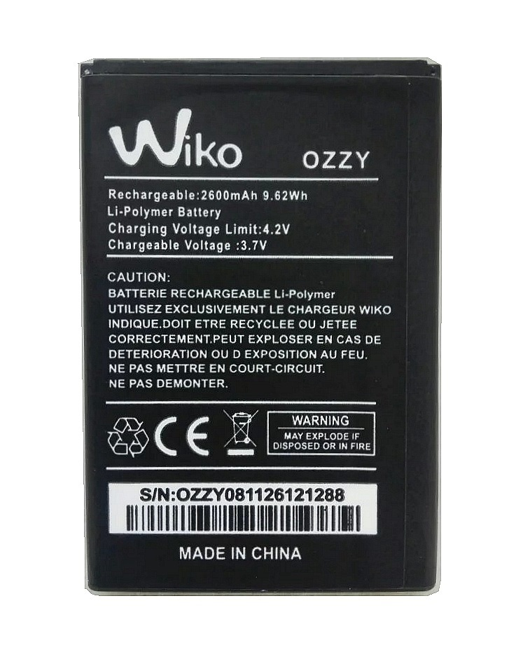 Pin Wiko Ozzy