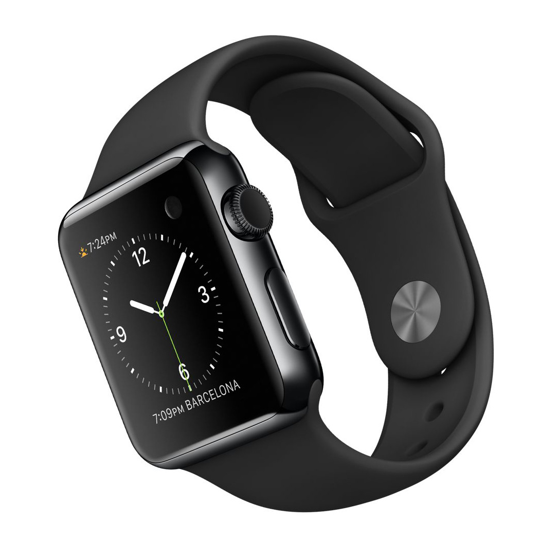Đồng hồ thông minh Apple Watch 3 42 mm Space Gray Aluminium Case Black Sport Band MQL12