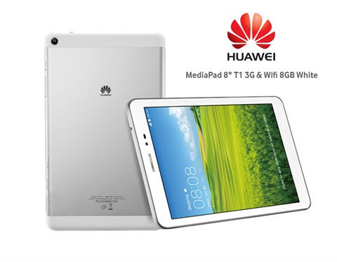 Huawei MediaPad T1 8.0 (S8-701u) (Quad-Core 1.2GHz, 1GB RAM, 8GB Flash Driver, 8 inch, Android OS v4.3) WiFi, 3G Model
